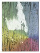 Abstract art,Street Art art,Non-representational art,mixed media artwork,Full Spectrum Suburban House Fire #4