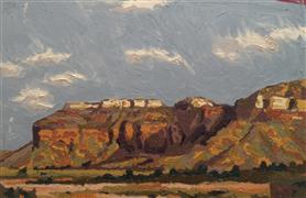 Landscape art,Nature art,Western art,Representational art,oil painting,Red Bluff Shadows