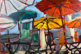Discover Original Art by Elliot Coatney | Umbrellas acrylic painting | Art for Sale Online at UGallery