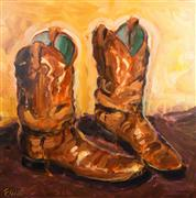 Discover Original Art by Elliot Coatney | Boots III acrylic painting | Art for Sale Online at UGallery
