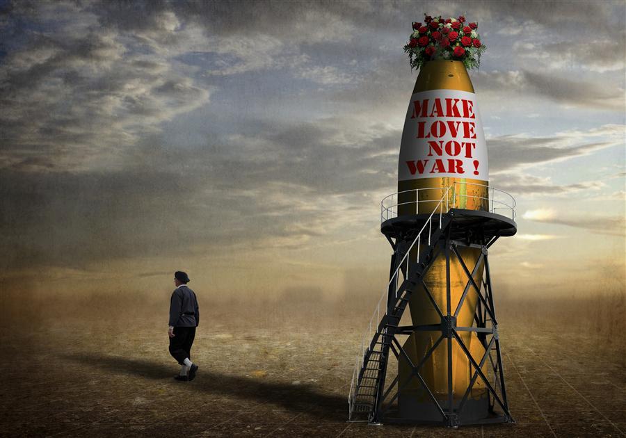 Discover Original Art by Ben Goosens | Make Love, Not War photography | Art for Sale Online at UGallery