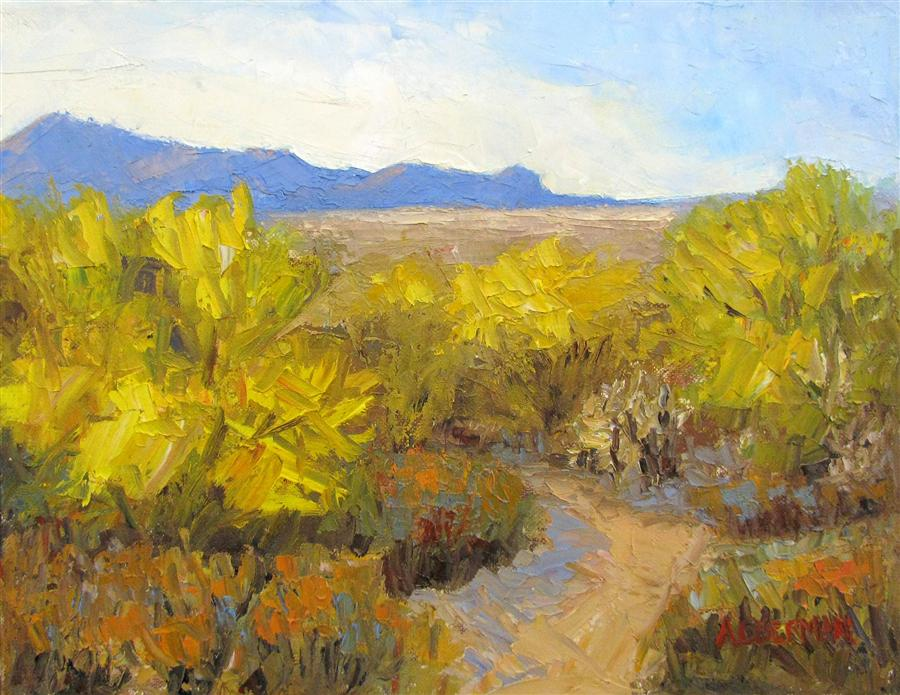 Original art for sale at UGallery.com | Sonoran Gold by ROGER ALDERMAN | $750 | Oil painting | 11' h x 14' w | http://www.ugallery.com/oil-painting-sonoran-gold