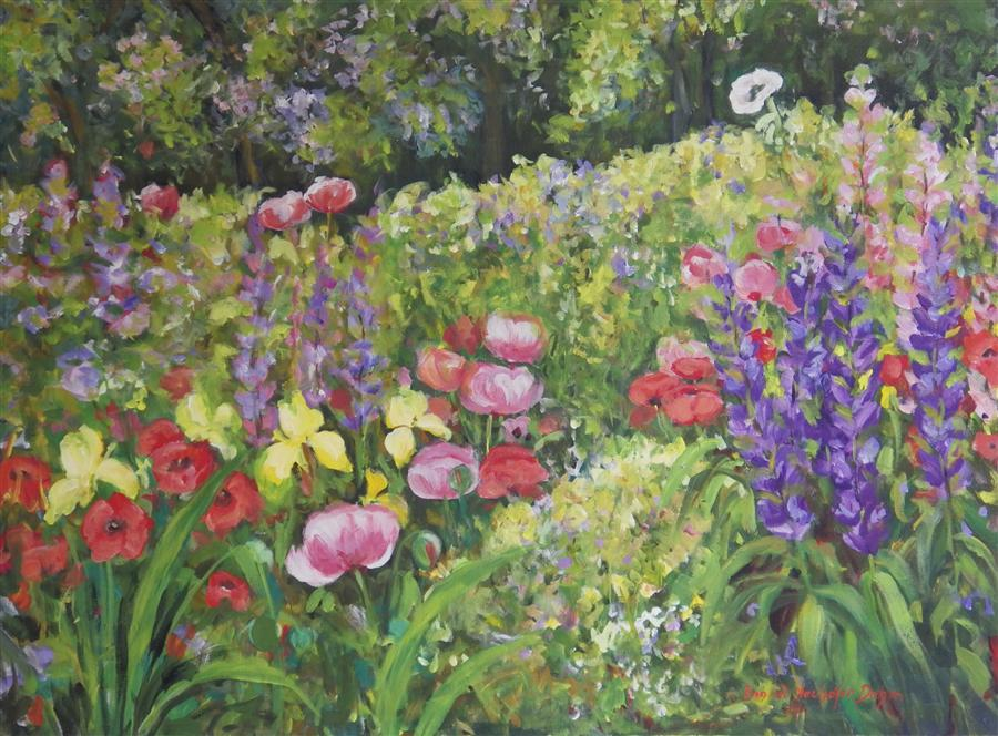 Discover Original Art by Ingrid Dohm | Monroe Garden acrylic painting | Art for Sale Online at UGallery