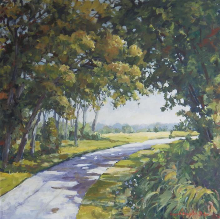 Discover Original Art by Ingrid Dohm | Midway Village Path acrylic painting | Art for Sale Online at UGallery