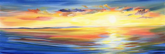 Discover Original Art by Piero Manrique | Sunset Glory acrylic painting | Art for Sale Online at UGallery