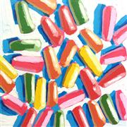 Pop art,Cuisine art,Representational art,acrylic painting,Neon Jelly Beans