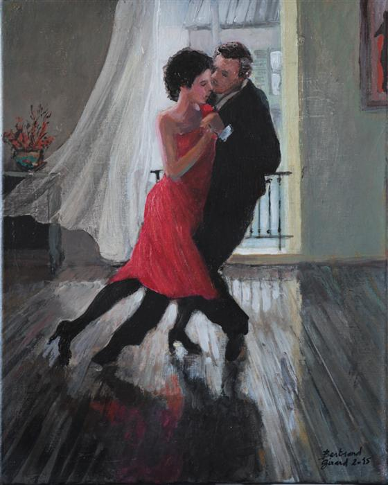 Discover Original Art by Bertrand Girard | Tango in Paris acrylic painting | Art for Sale Online at UGallery