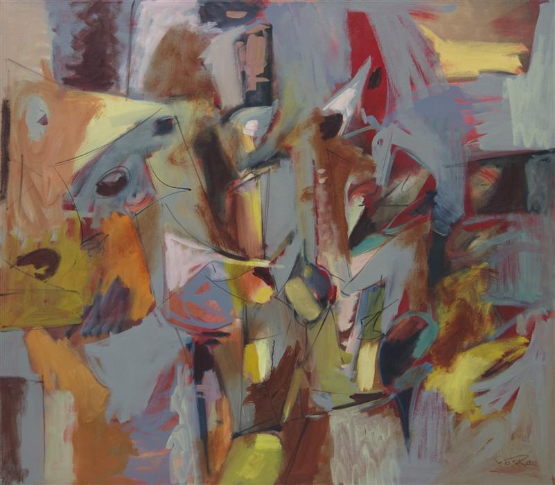 Original art for sale at UGallery.com | Fervor by VOSKAN  GALSTIAN | $4,775 | Oil painting | 42' h x 48' w | http://www.ugallery.com/oil-painting-fervor