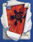 Pop art,Still Life art,Flora art,Representational art,acrylic painting,Georgia's Poppy