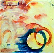 Abstract art,Expressionism art,acrylic painting,Reaching Out