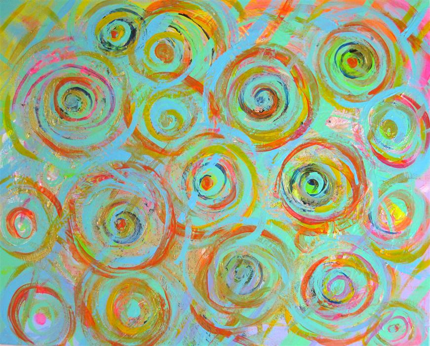 Discover Original Art by Natasha Tayles | Rust in Circles acrylic painting | Art for Sale Online at UGallery