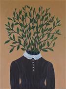 People art,Surrealism art,Representational art,Vintage art,acrylic painting,Spring Greens