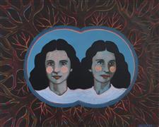 People art,Surrealism art,Representational art,Vintage art,acrylic painting,Conjoined Moments