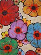 Pop art,Flora art,Representational art,oil painting,Flowers