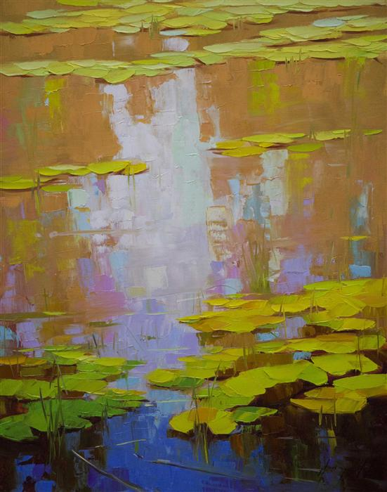 Original art for sale at UGallery.com | Autumn Colors by VAHE YEREMYAN | $675 | Oil painting | 20' h x 16' w | http://www.ugallery.com/oil-painting-autumn-colors