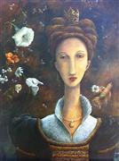 Fantasy art,People art,Representational art,Vintage art,oil painting,Queen Bee