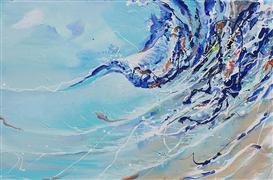 Discover Original Art by Piero Manrique | Curl Wave acrylic painting | Art for Sale Online at UGallery