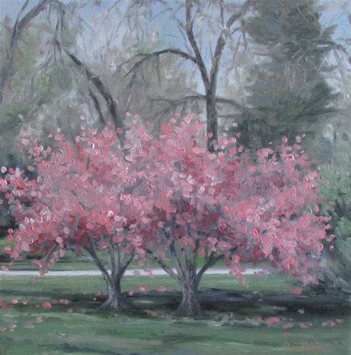 Original art for sale at UGallery.com | Thinking for Spring by RON KENYON | $375 | Oil painting | 12' h x 12' w | http://www.ugallery.com/oil-painting-thinking-for-spring