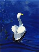 Discover Original Art by Piero Manrique | Swan acrylic painting | Art for Sale Online at UGallery