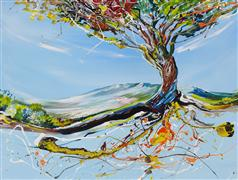 Discover Original Art by Piero Manrique | Sparkling Tree acrylic painting | Art for Sale Online at UGallery