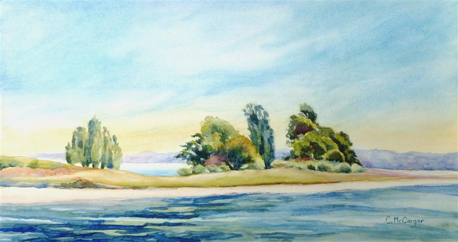 Original art for sale at UGallery.com | Quiet Place by CATHERINE MCCARGAR | $375 | Watercolor painting | 8.5' h x 16' w | http://www.ugallery.com/watercolor-painting-quiet-place