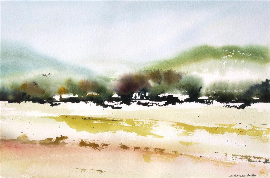 Discover Original Art by Charles Ash | Summer Highlands watercolor painting | Art for Sale Online at UGallery