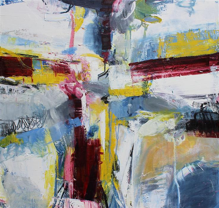 Discover Original Art by Scott Hunter | Red Ink oil painting | Art for Sale Online at UGallery