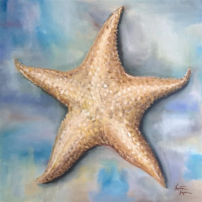 Original art for sale at UGallery.com | Starfish by KRISTINE KAINER | $1,325 | Oil painting | 24' h x 24' w | http://www.ugallery.com/oil-painting-starfish