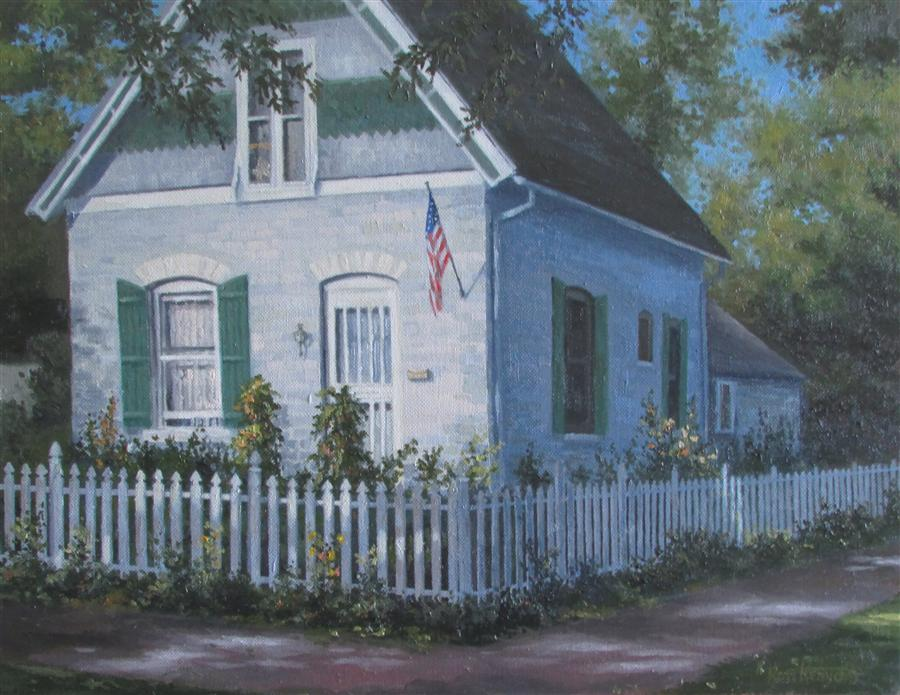 Discover Original Art by Ron Kenyon | Sunday Morning Light oil painting | Art for Sale Online at UGallery