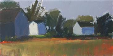 Impressionism art,Landscape art,Representational art,acrylic painting,Farm