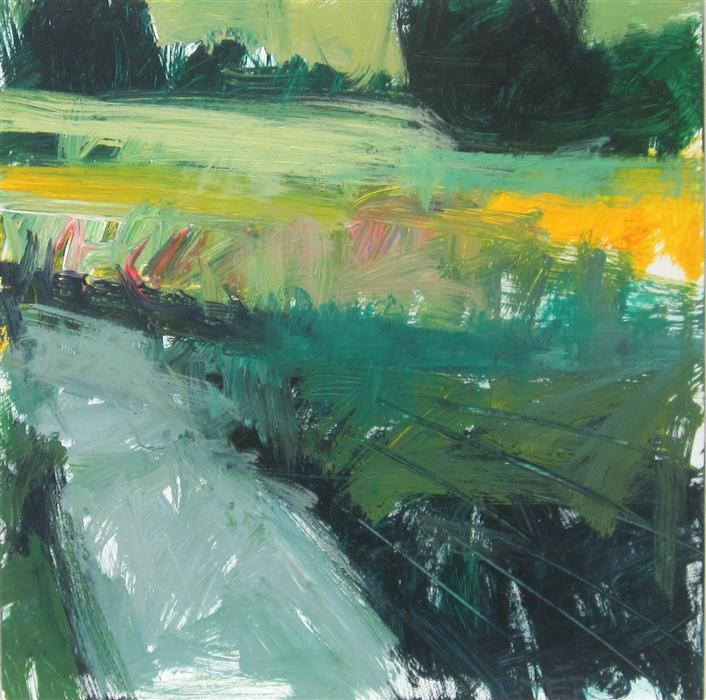 Discover Original Art by Janet Dyer | Path in Field acrylic painting | Art for Sale Online at UGallery