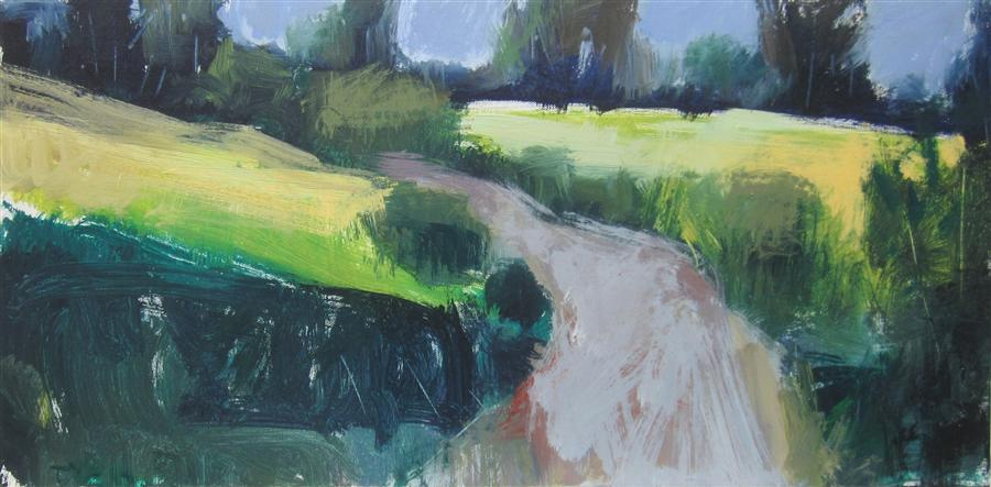 Discover Original Art by Janet Dyer | Road in England acrylic painting | Art for Sale Online at UGallery