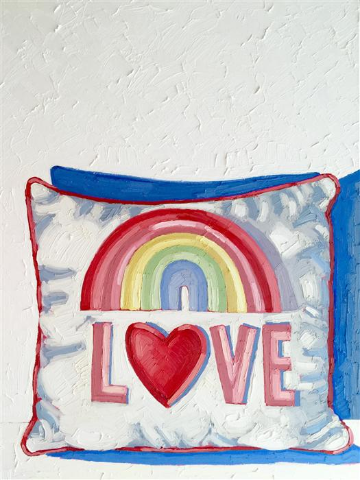 Original art for sale at UGallery.com | Love Pillow by NICOLE NEWSTED | $3,250 | Oil painting | 40' h x 30' w | http://www.ugallery.com/oil-painting-love-pillow