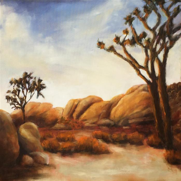 Original art for sale at UGallery.com | Joshua Tree by MANDY MAIN | $1,325 | Oil painting | 30' h x 30' w | http://www.ugallery.com/oil-painting-joshua-tree-37808