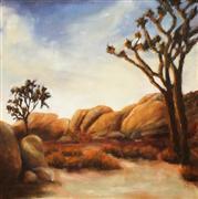 Impressionism art,Landscape art,Nature art,Western art,Representational art,oil painting,Joshua Tree