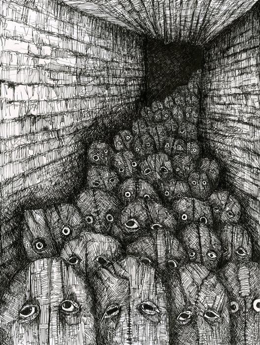 Original art for sale at UGallery.com | The Nubs Have Eyes by ANTHONY CHRISTOPHER | $500 | Ink artwork | 12' h x 9' w | http://www.ugallery.com/ink-artwork-the-nubs-have-eyes