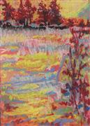 Expressionism art,Landscape art,Representational art,pastel artwork,Red Fir
