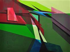 Abstract art,Non-representational art,Modern  art,acrylic painting,Abstract Landscape #28