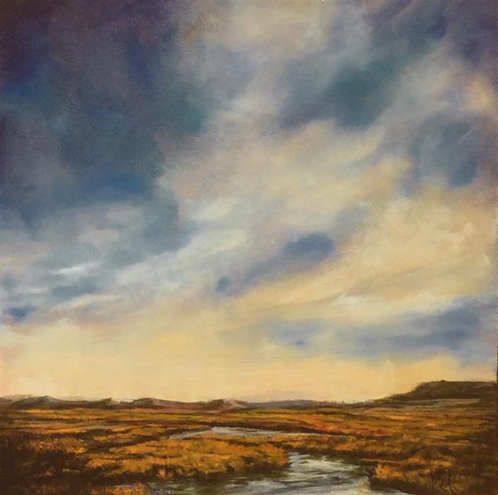 Original art for sale at UGallery.com | Vista IX by MANDY MAIN | $425 | Oil painting | 12' h x 12' w | http://www.ugallery.com/oil-painting-vista-ix