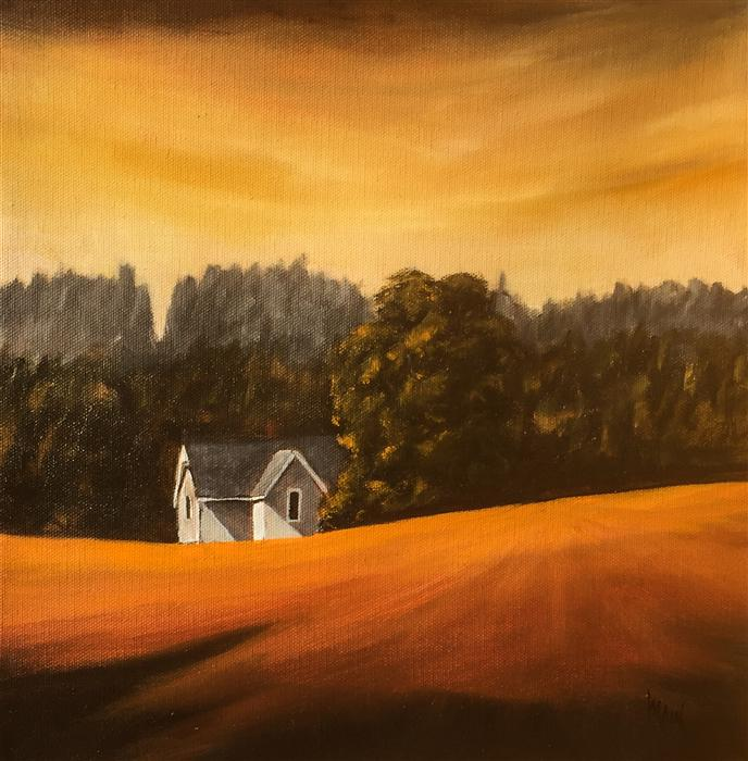 Original art for sale at UGallery.com | House on Parson Road IV by MANDY MAIN | $425 | Oil painting | 12' h x 12' w | http://www.ugallery.com/oil-painting-house-on-parson-road-iv
