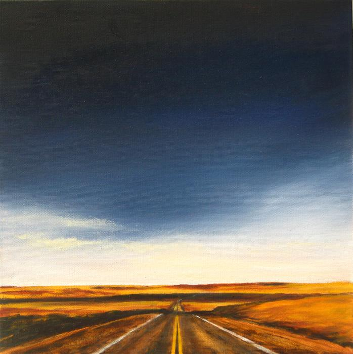 Original art for sale at UGallery.com | Vanishing Point II by MANDY MAIN | $425 | Oil painting | 12' h x 12' w | http://www.ugallery.com/oil-painting-vanishing-point-ii