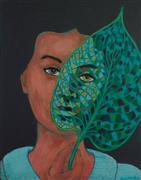 People art,Surrealism art,Representational art,Vintage art,acrylic painting,Restructured Biology