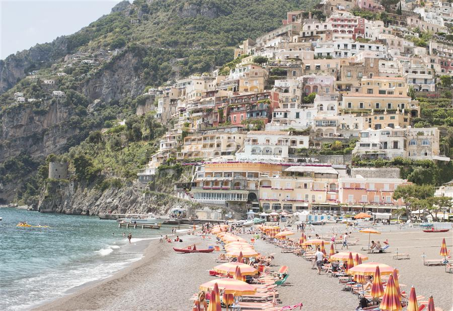 Original art for sale at UGallery.com | Beach Days in Positano by REBECCA PLOTNICK | $220 |  | ' h x ' w | http://www.ugallery.com/photography-beach-days-in-positano