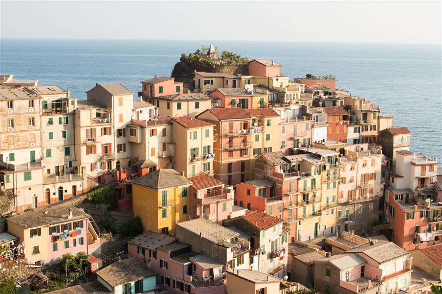 Discover Original Art by Rebecca Plotnick | Golden Hour on Cinque Terre photography | Art for Sale Online at UGallery