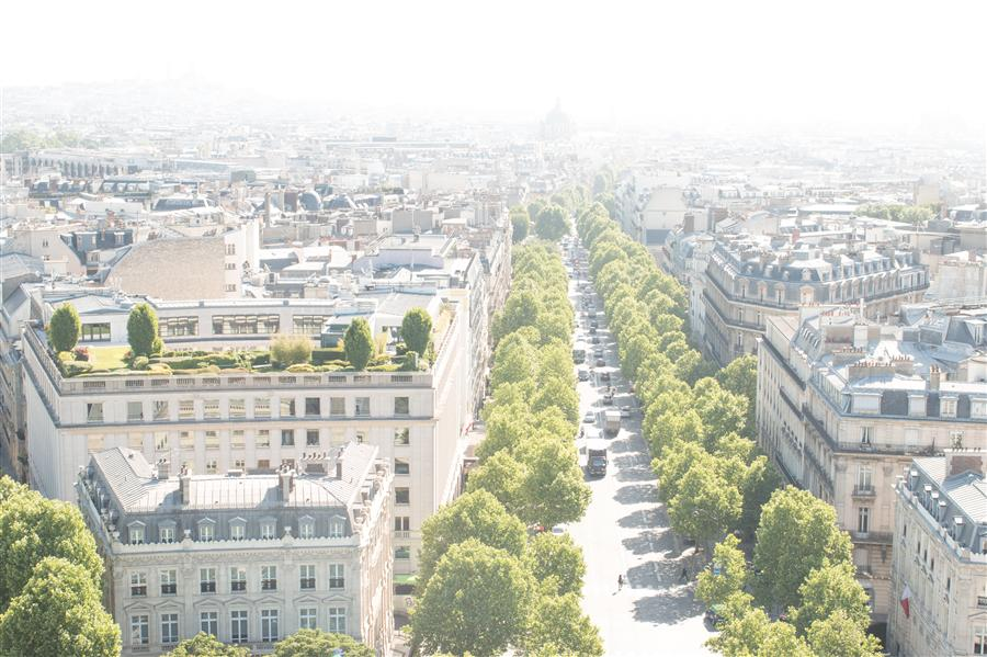 Original art for sale at UGallery.com | Champs Elysee View by REBECCA PLOTNICK | $220 |  | ' h x ' w | http://www.ugallery.com/photography-champs-elysee-view