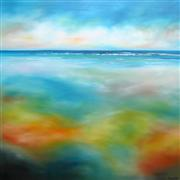Seascape art,Representational art,oil painting,Beach Colors III
