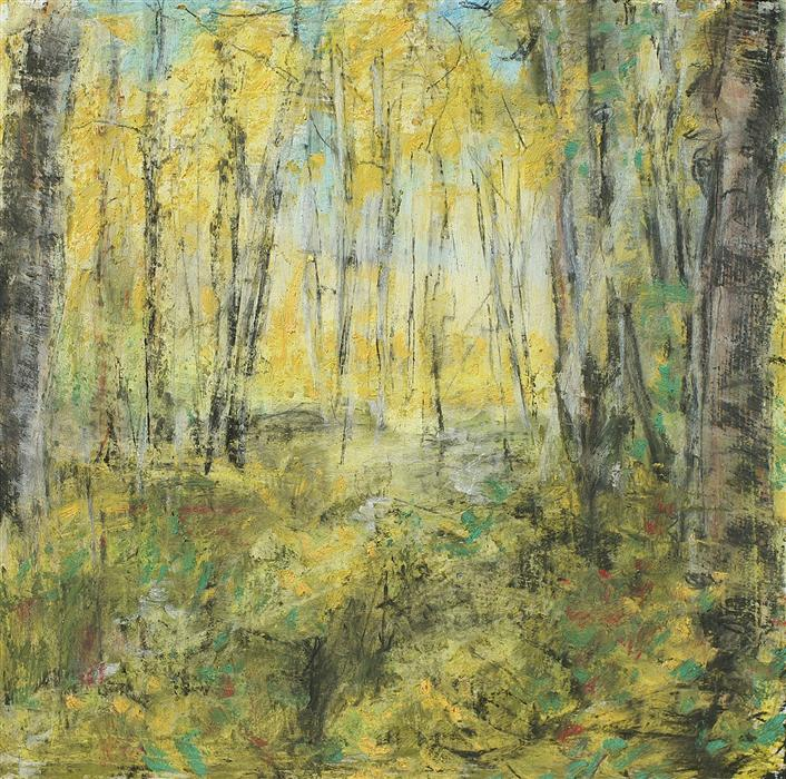 Discover Original Art by Sarah Beth Goncarova | October Forest mixed media artwork | Art for Sale Online at UGallery