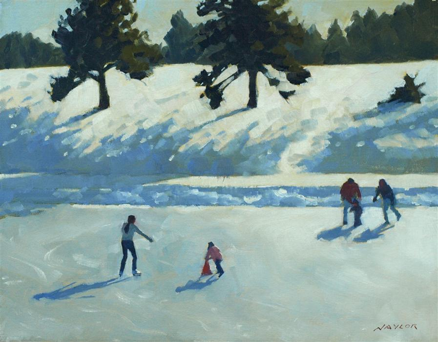 Discover Original Art by Rodgers Naylor | Skating oil painting | Art for Sale Online at UGallery