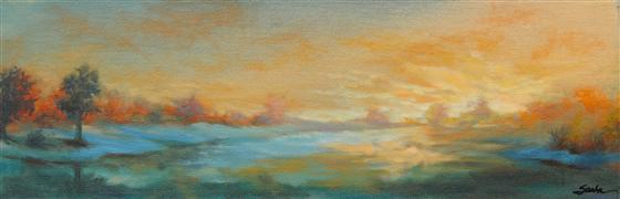 Impressionism art,Landscape art,Nature art,Representational art,oil painting,Seductive Nights 5