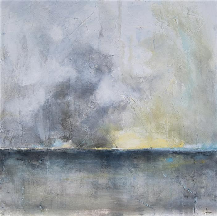 Original art for sale at UGallery.com | White Lighting by ANNE DOSSO-POWELL | $1,750 | Oil painting | 36' h x 36' w | http://www.ugallery.com/oil-painting-white-lighting